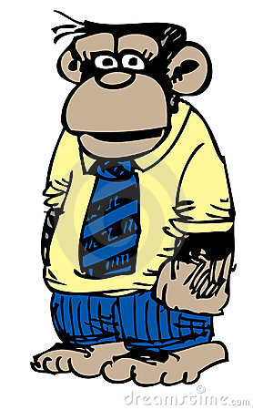 Cartoon business monkey