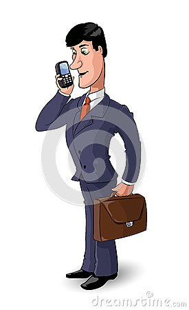 Cartoon businessman 1
