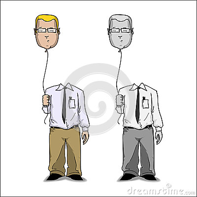 Cartoon businessmen.