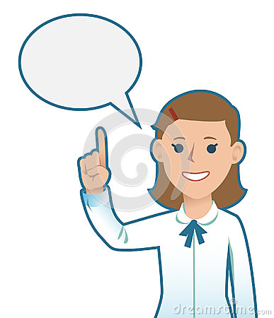 Cartoon Businesswoman giving advice