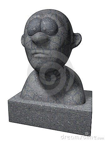 Cartoon bust