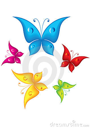 cartoon butterflies royalty free stock photo image 13668925