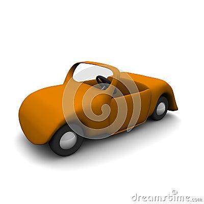 Cartoon cabriolet car