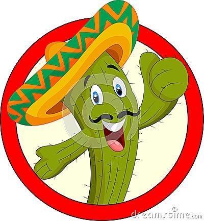 Free Cartoon Cactus Character Royalty Free Stock Image - 49366986