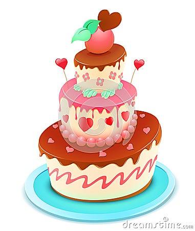 Free Cartoon Cake Stock Photography - 21511552