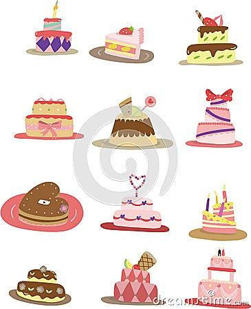 Cartoon Cake Icon Stock Images Image 17834344