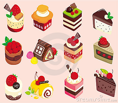 Cartoon cake icon