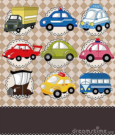 Cartoon car card