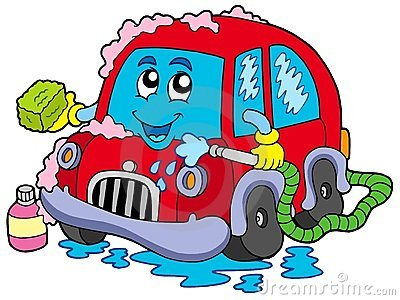 Stock Photography: Cartoon car wash