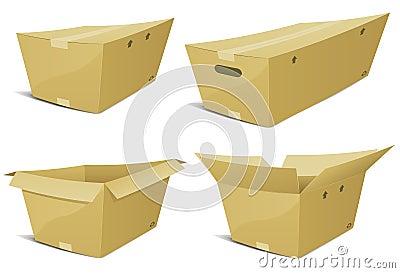 Cartoon Cardboard Box Set
