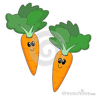 Royalty Free Stock Image: Cartoon Carrots