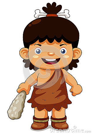Cartoon cave boy