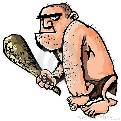 Cartoon caveman with a club