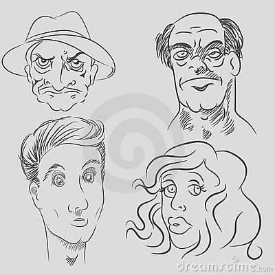 Cartoon Character Faces