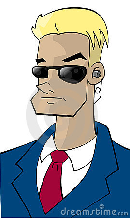 Cartoon character FBI-guy