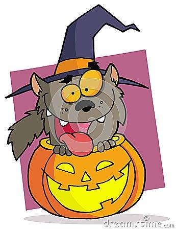 Cartoon character halloween werewolf