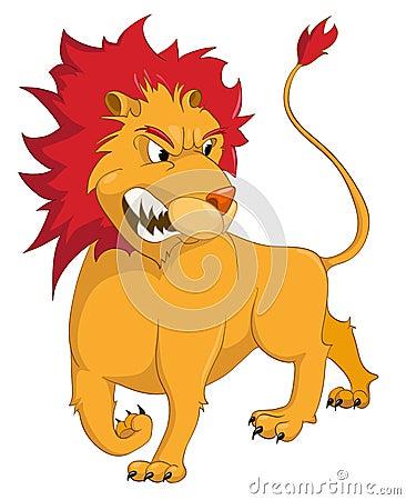 Lion Cartoon Character on Stock Photo  Cartoon Character Lion  Image  21193780