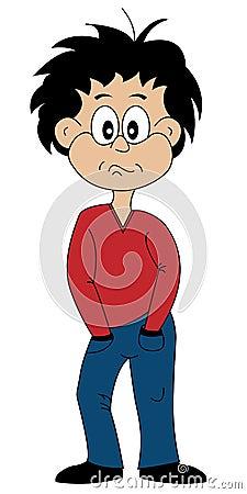 Cartoon Character Moody Teenager
