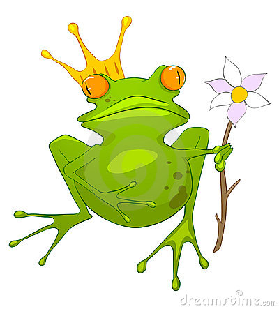 Cartoon Character Princess Frog