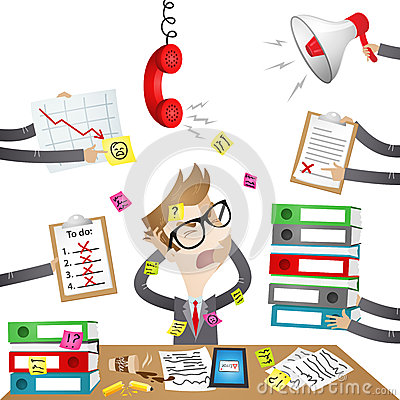 Free Cartoon Character: Stressed Out Businessman Royalty Free Stock Image - 37465766