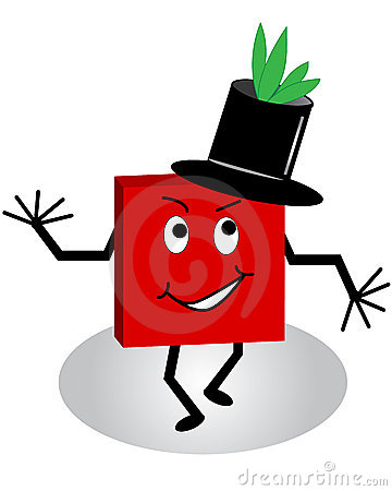 Cartoon Character with Tophat