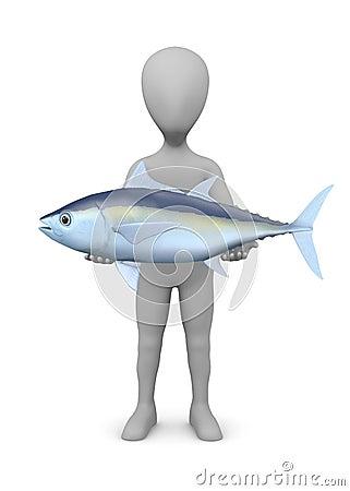 Cartoon character with tuna fish (nice catch)