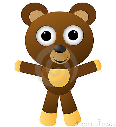 Cartoon character vector - bear/eps