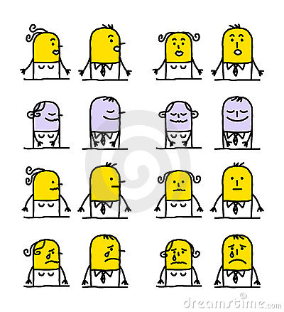 Cartoon characters - emotions