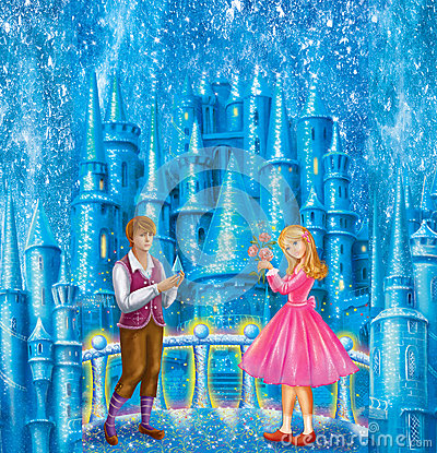 Free Cartoon Characters Gerda And Kai For Fairy Tale Snow Queen Written By Hans Christian Andersen Royalty Free Stock Images - 58900859