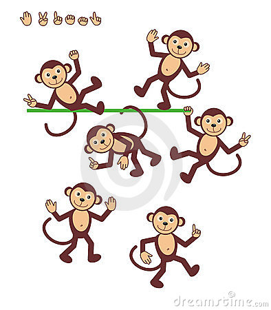 Free Cartoon Characters - Monkey Stock Photography - 4781372