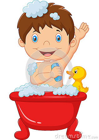 Cartoon Child Taking A Bath Stock Vector Image 53892585