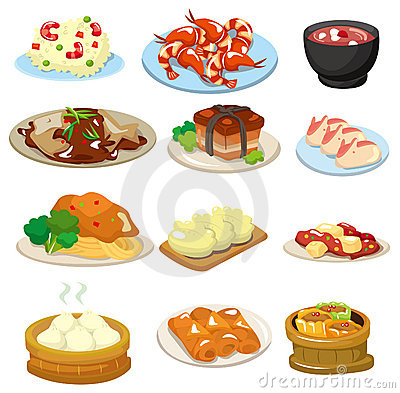 Cartoon chinese food icon