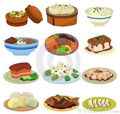Cartoon Chinese Food Icon Royalty Free Stock Photo - Image ...