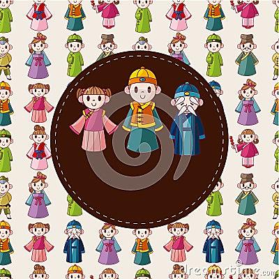 Free Cartoon Chinese People Card Stock Photo - 20961070