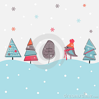 Free Cartoon Christmas Background Royalty Free Stock Photography - 16656707