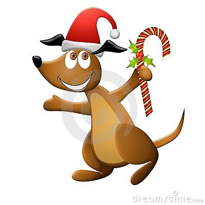 Cartoon Christmas Dog