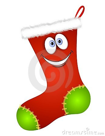 Christmas Stockings on Cartoon Christmas Stocking Stock Photos   Image  7248343