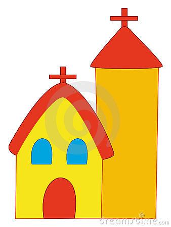 Cartoon church