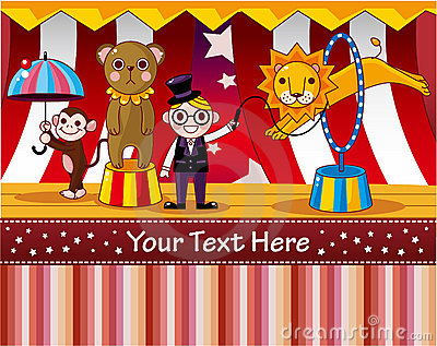 Cartoon circus card