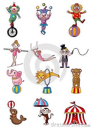 Cartoon circus icon