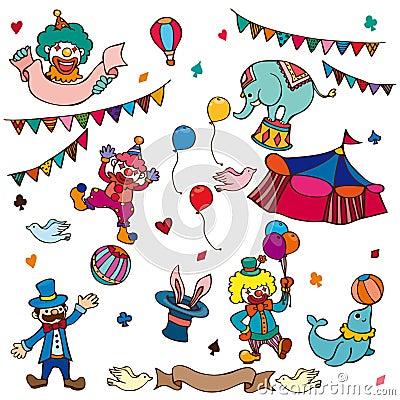 Free Cartoon Circus Icon Stock Photos - 23530903