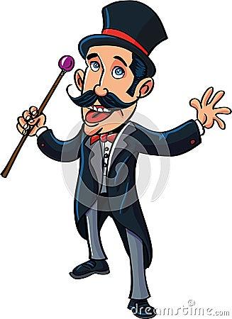 Cartoon circus ring master