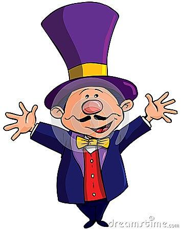 Cartoon Circus Ringmasterwith a top hat
