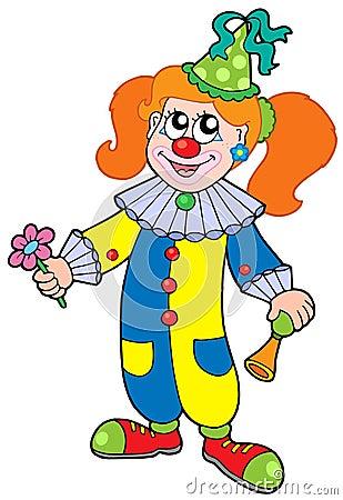 Royalty Free Stock Image: Cartoon clown girl