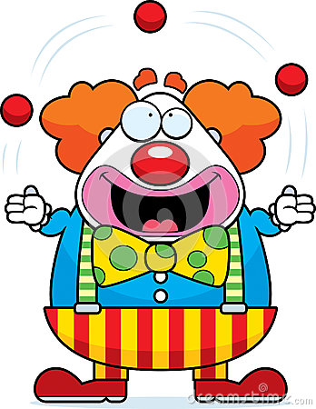 Cartoon Clown Juggling