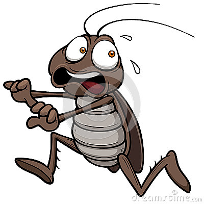 Free Cartoon Cockroach Stock Photography - 34820102