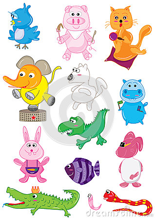 Animals Cute Set_eps