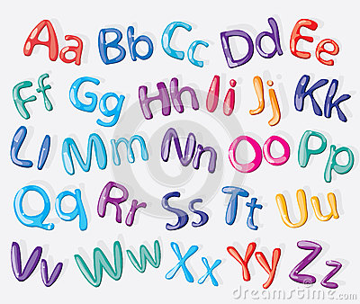 Cartoon colorful alphabet