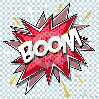 Free Cartoon Comic Graphic Design For Explosion Blast Dialog Box Background With Sound BOOM. Royalty Free Stock Photos - 98992408