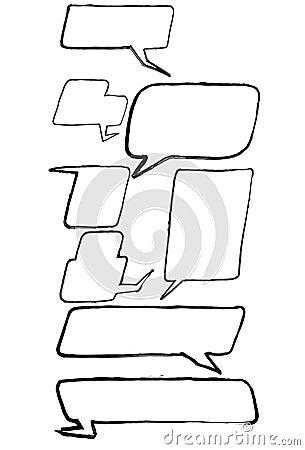Free Cartoon Comic Speech Bubbles Royalty Free Stock Photos - 39174188